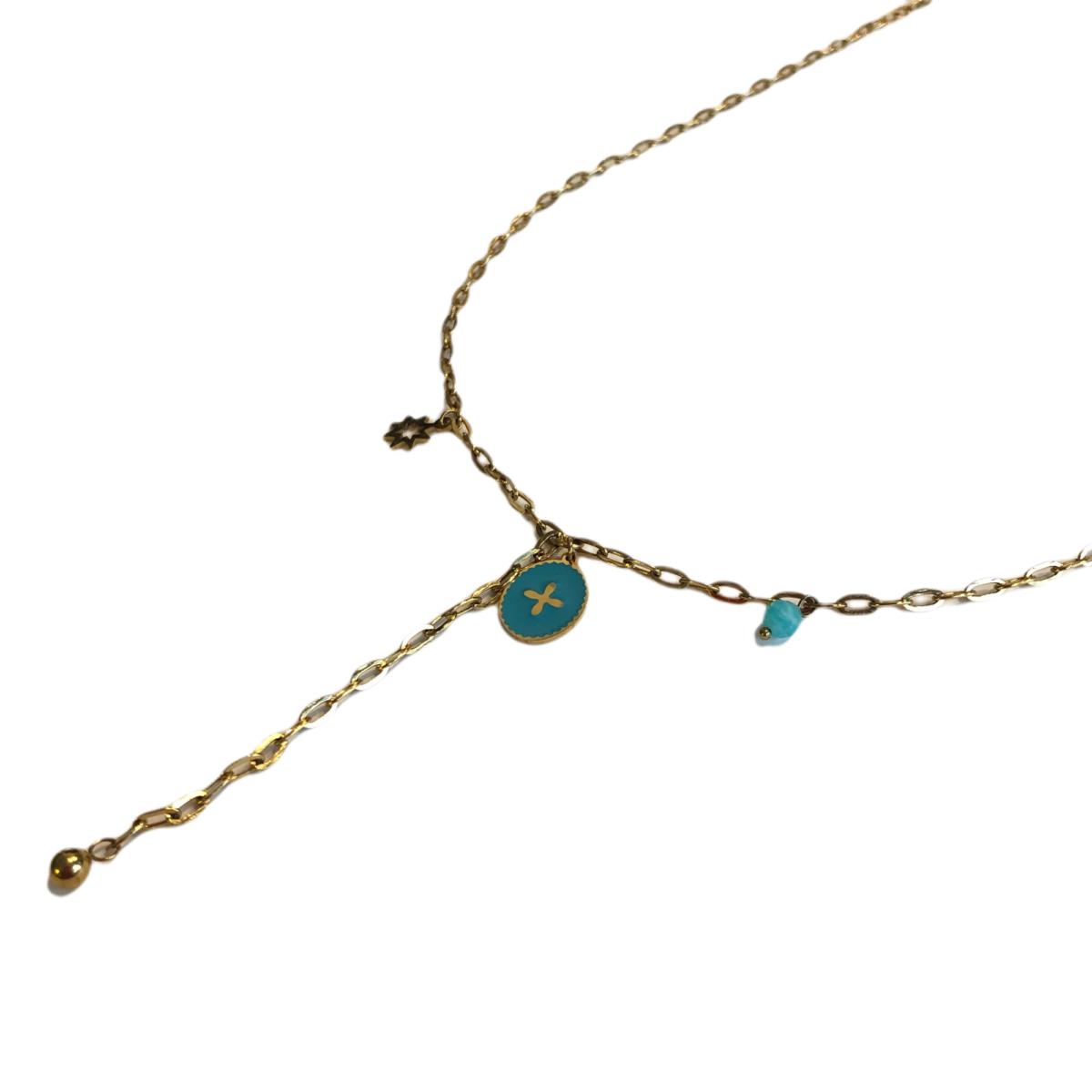 By Destele collier chaîne et pendentifs