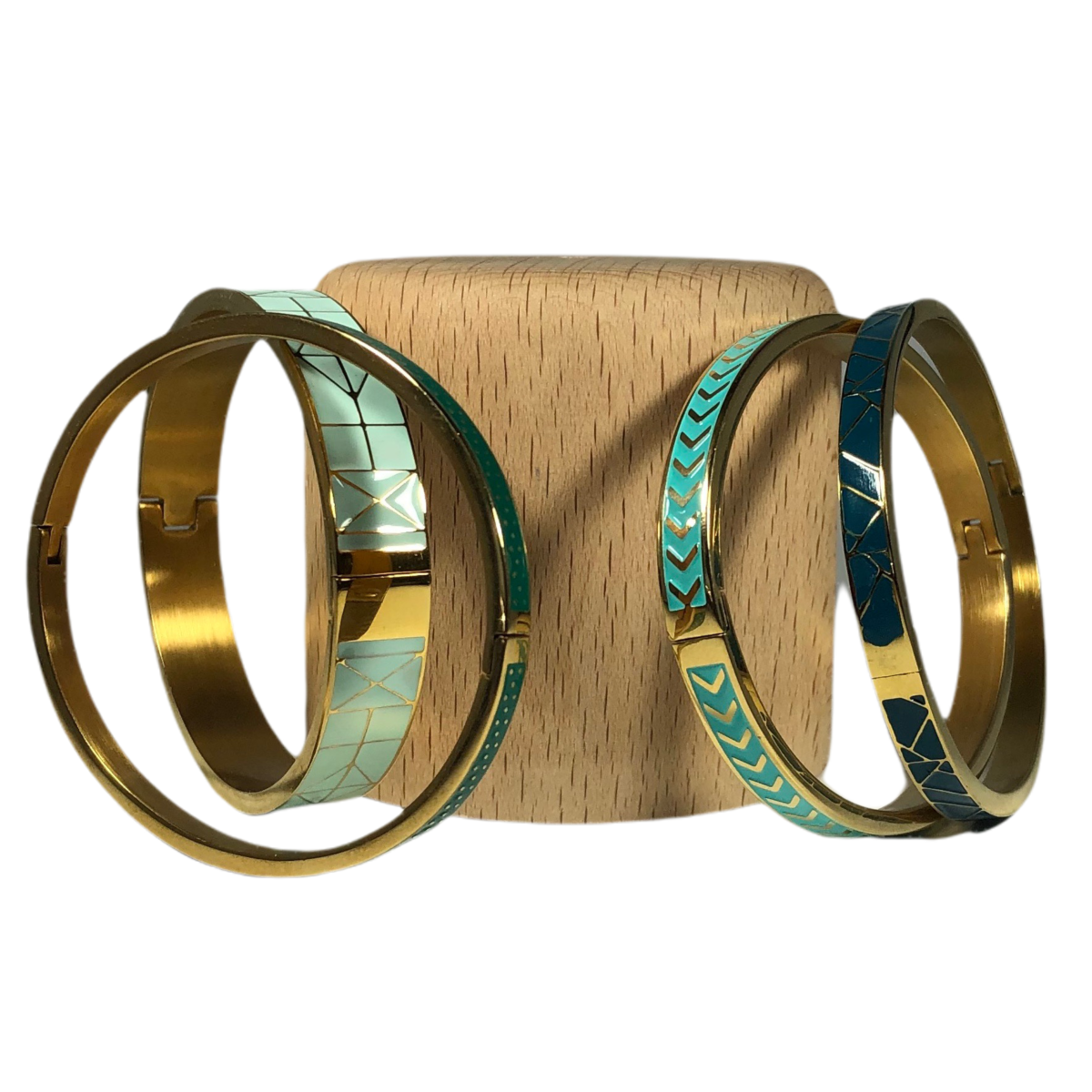 by destele bracelet jonc vert