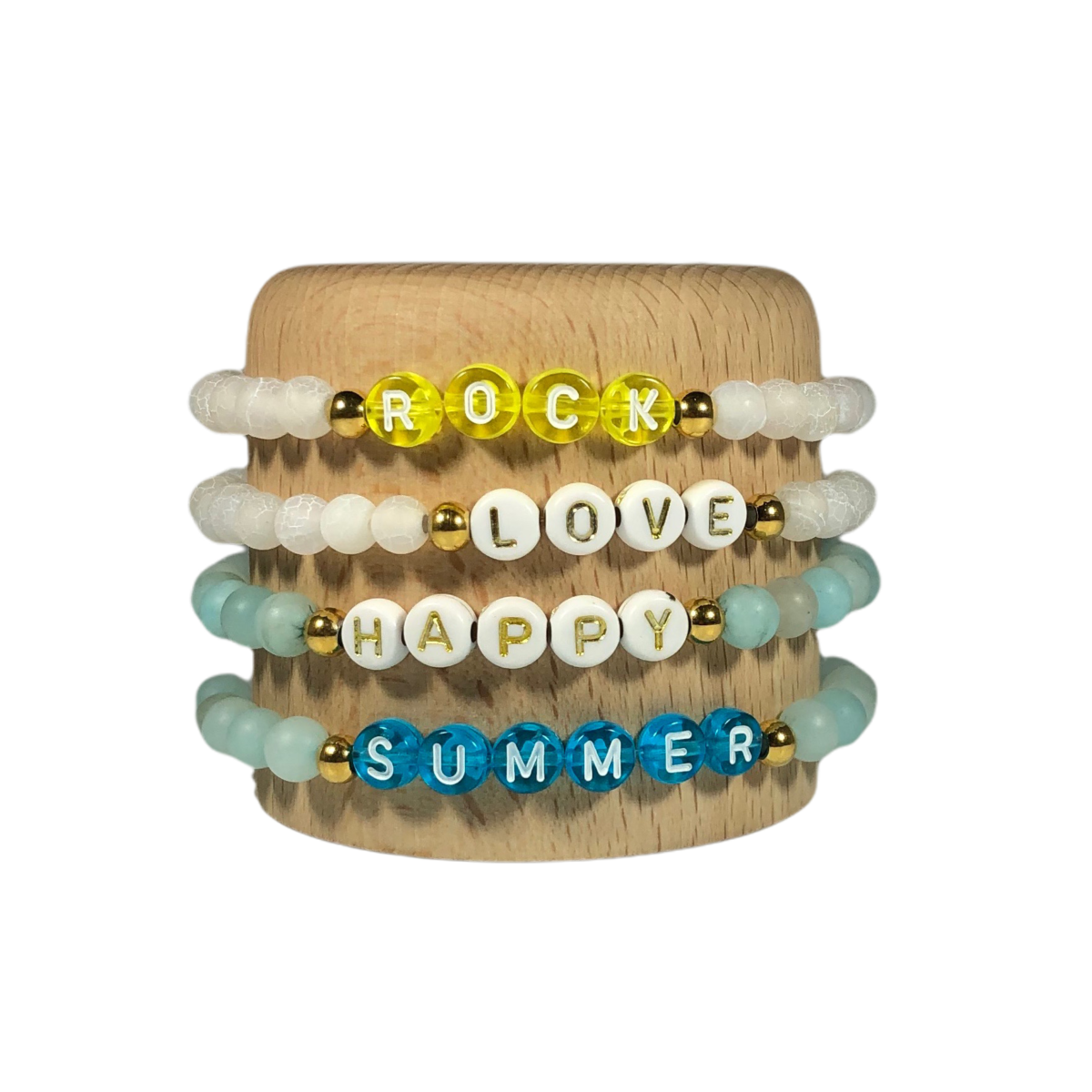 by destele bracelet message perles