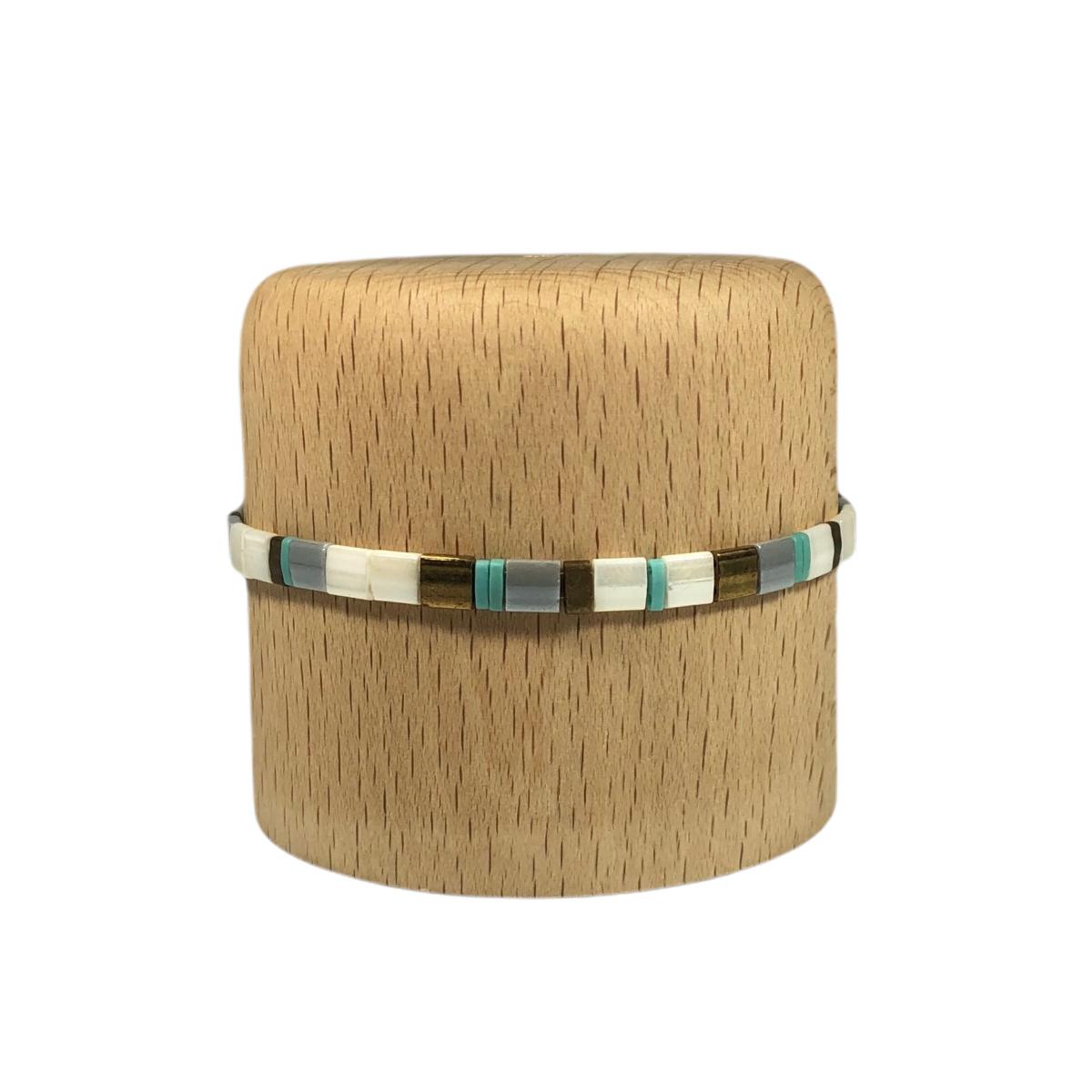 by destele bracelet japonais turquoise