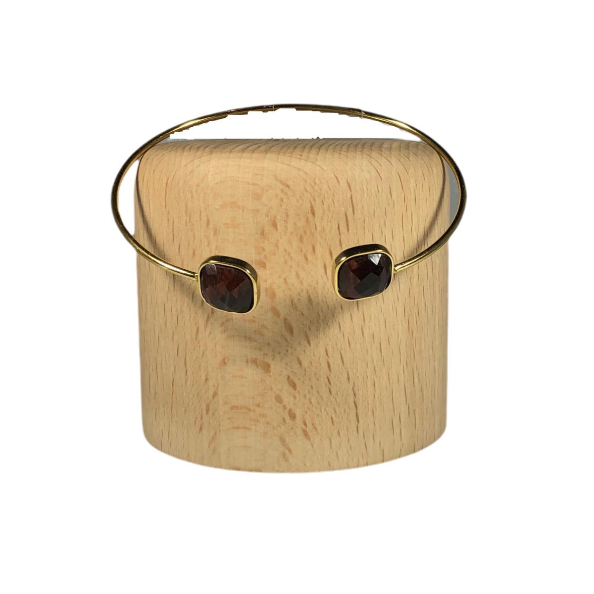 by destele bracelet jonc oeil du tigre