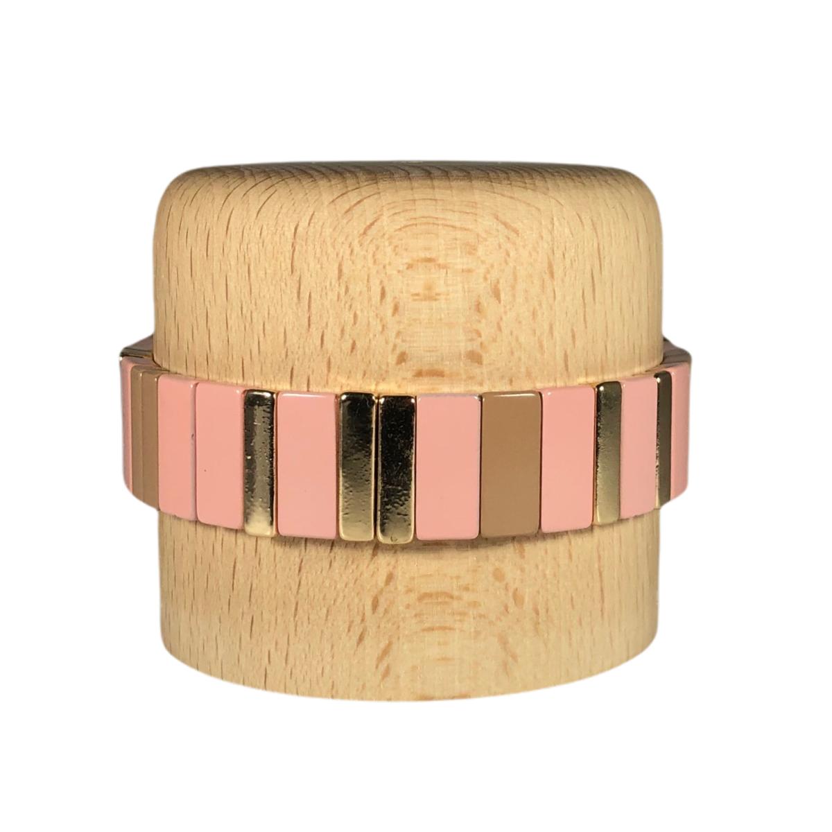 by destele bracelet lou rose et gold