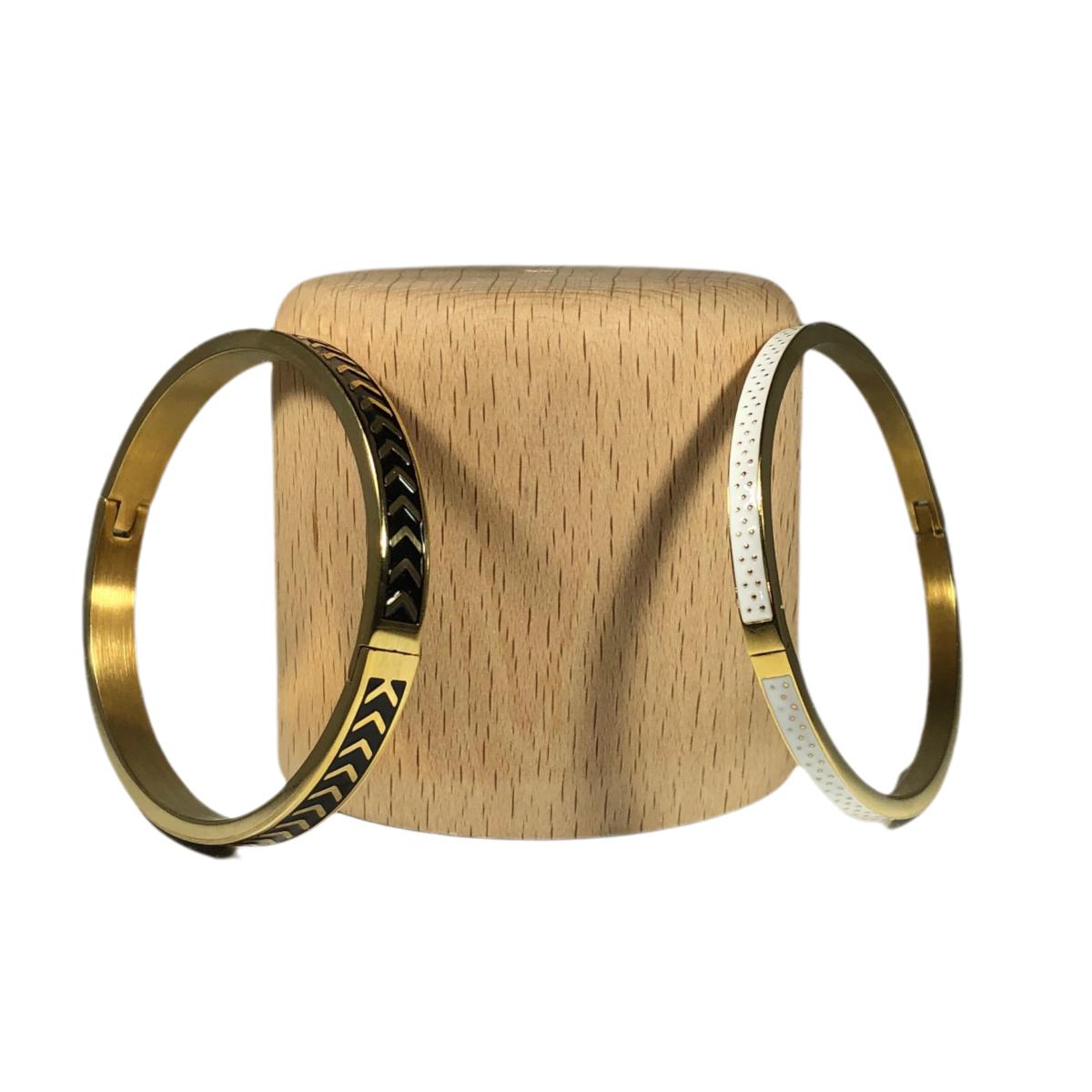by destele bracelet jonc blanc ou noir