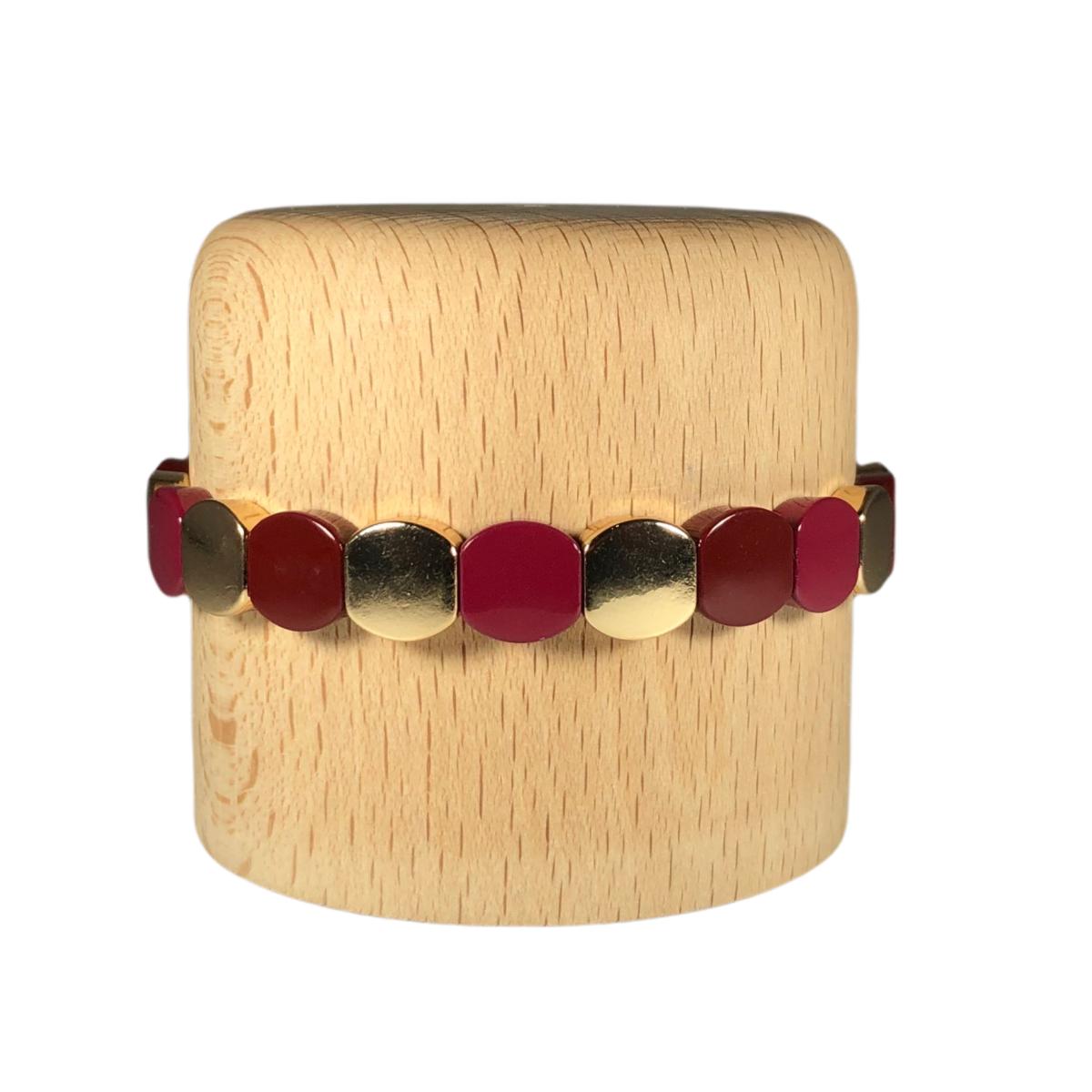 by destele bracelet lou bordeaux et gold