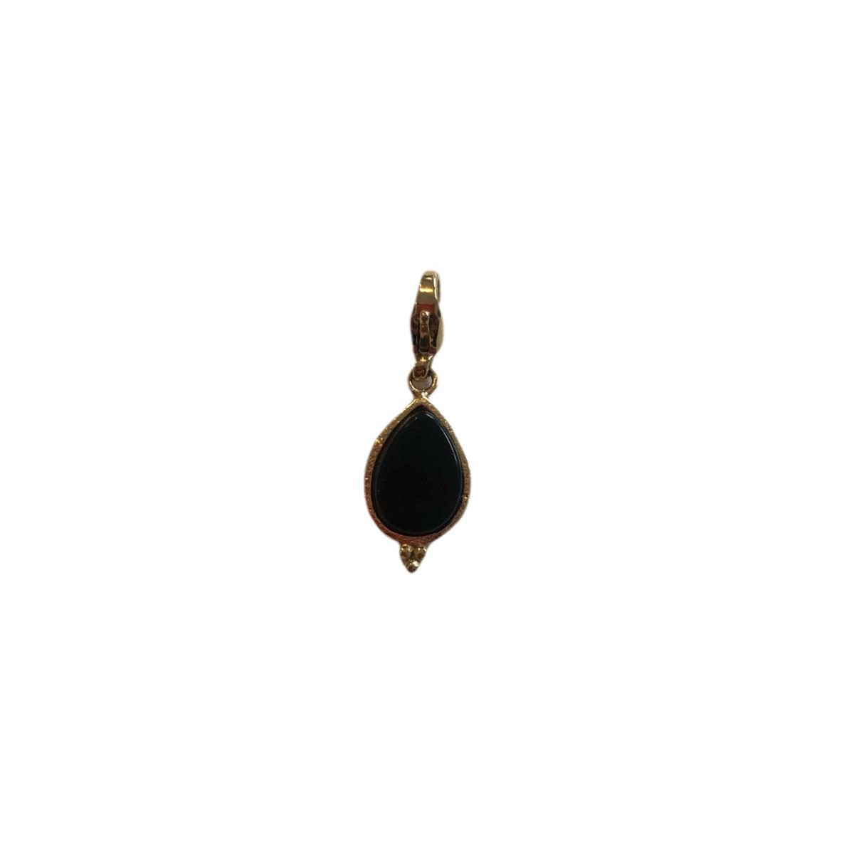 By Destele pendentif clipsable Pierre noire