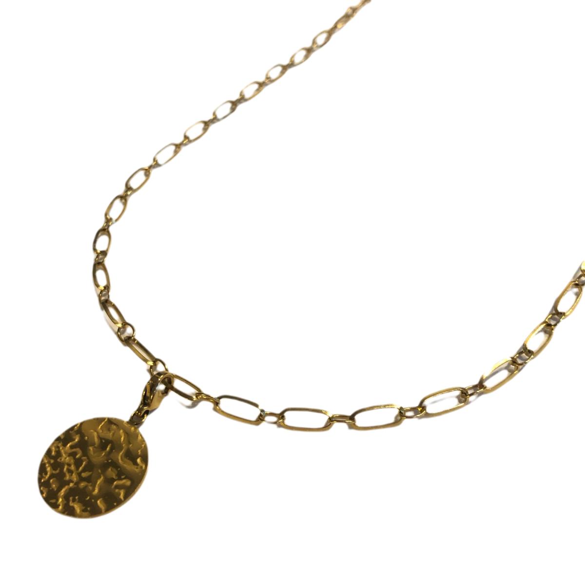 By Destele collier chaîne maillon et son pendentif
