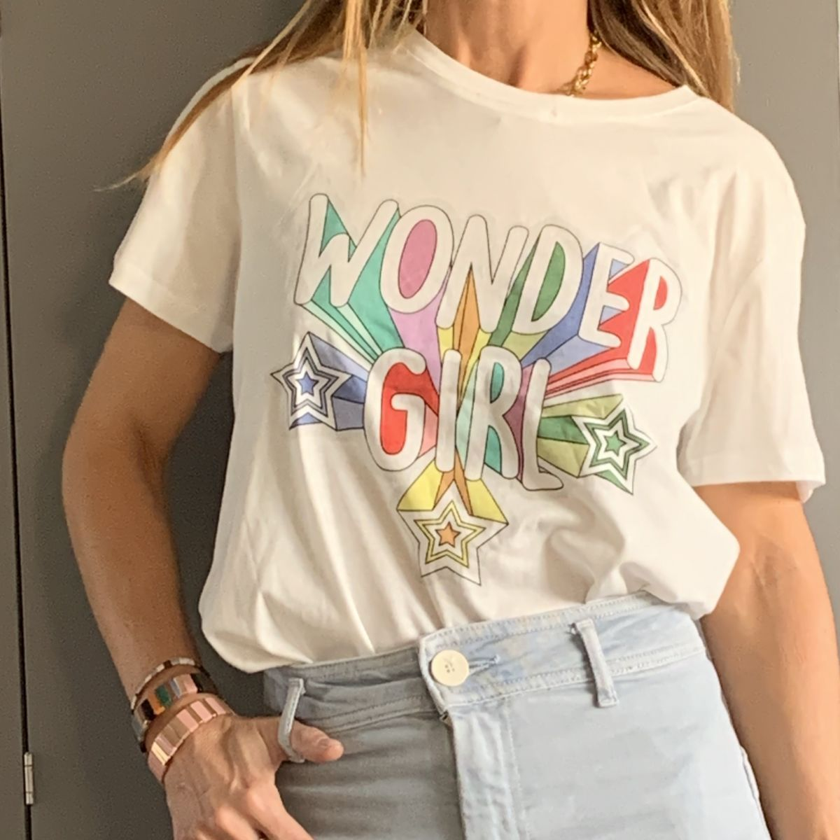 by destele tee-shirt wonder girl