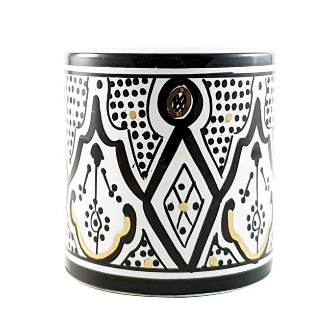 By Destele vase pot noir motifs marocains