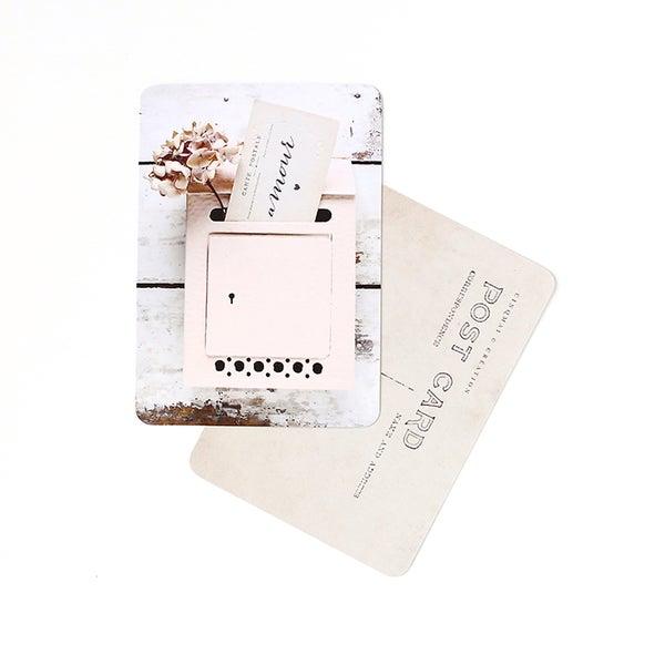 By Destele cinq mai carte postale image letter box