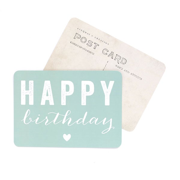 By Destele cinq mai carte postale menthe message happy birthday