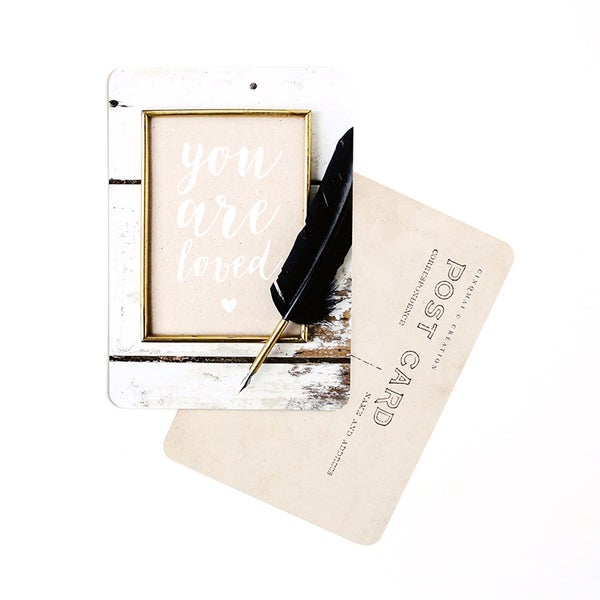 by destele cinq mai carte postale message you are loved
