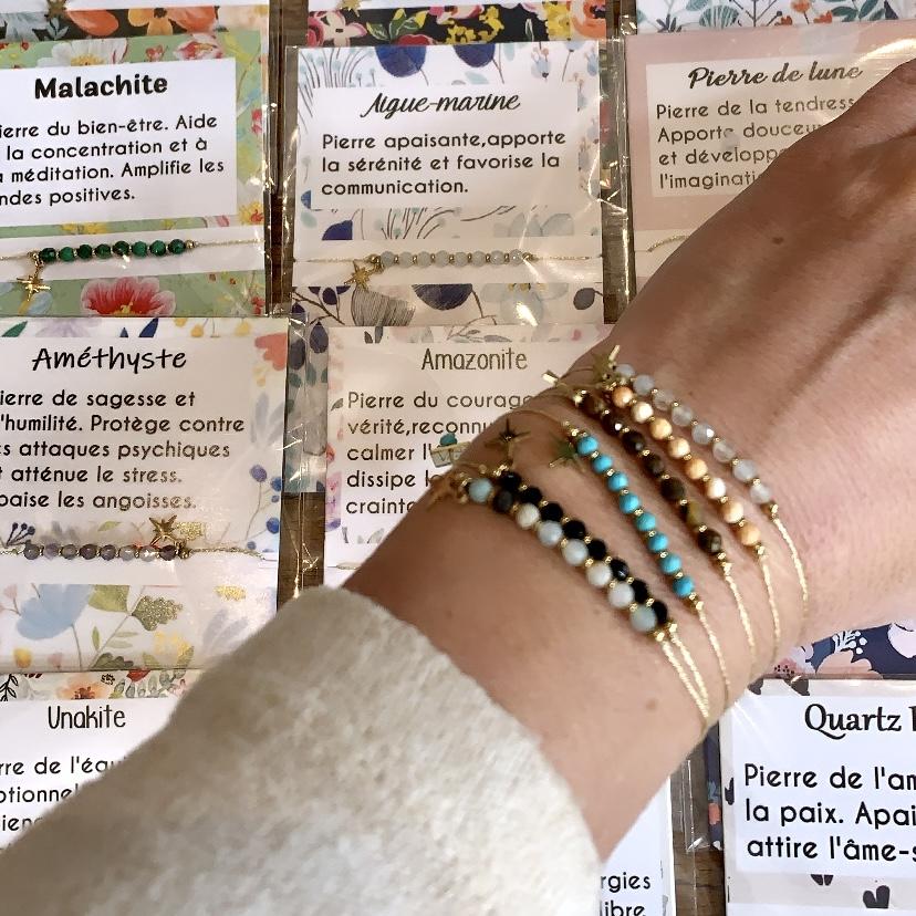 by destele bracelet bien être en pierres
