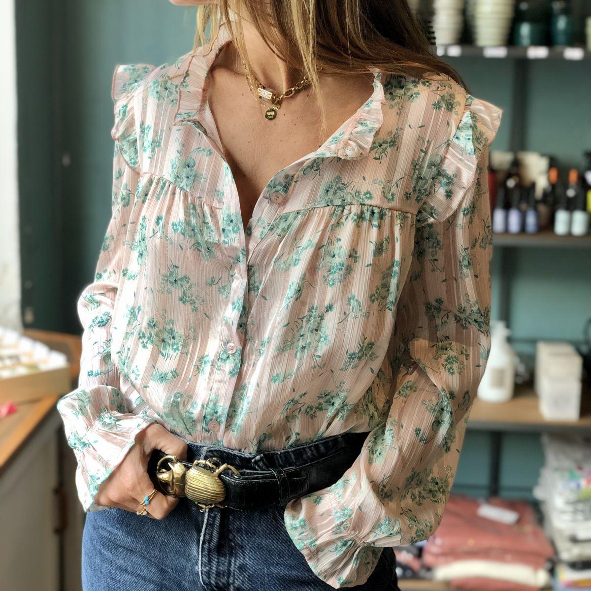 chemise imprimé fleurs by destele