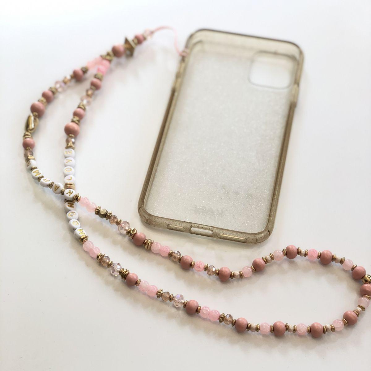 bijou téléphone rose message love cordon long by destele