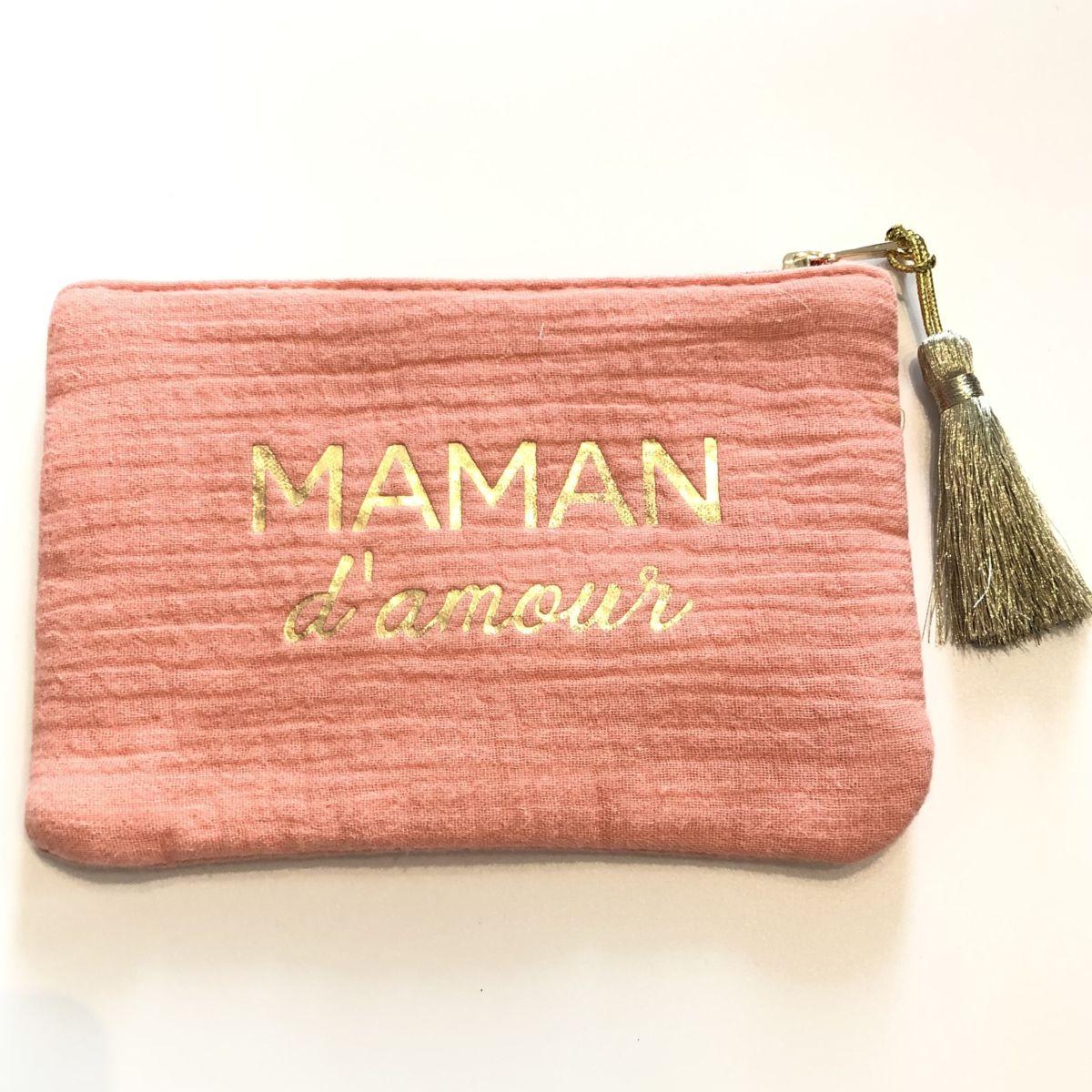 pochette rose message maman d'amour by destele
