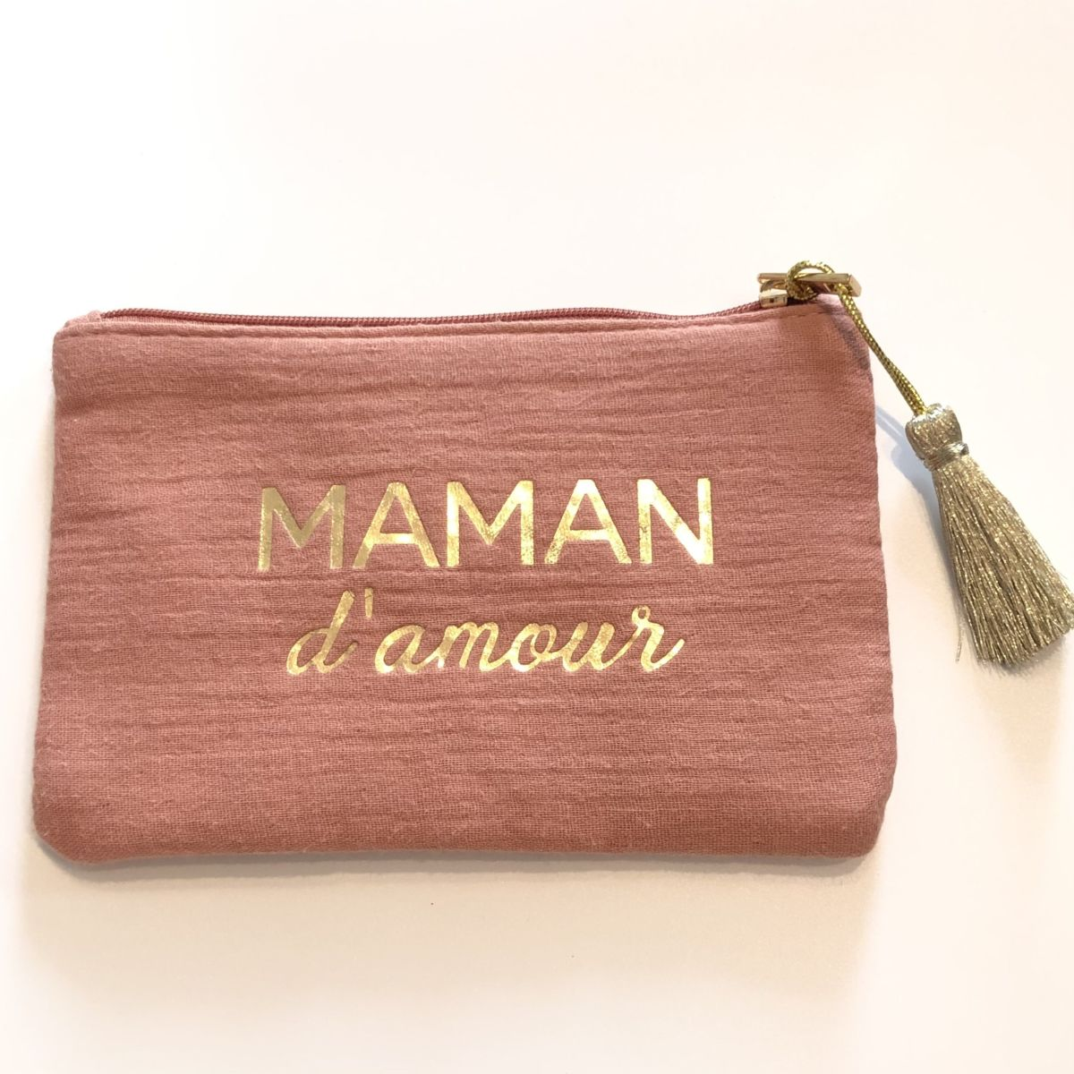pochette vieux rose message maman d'amour by destele