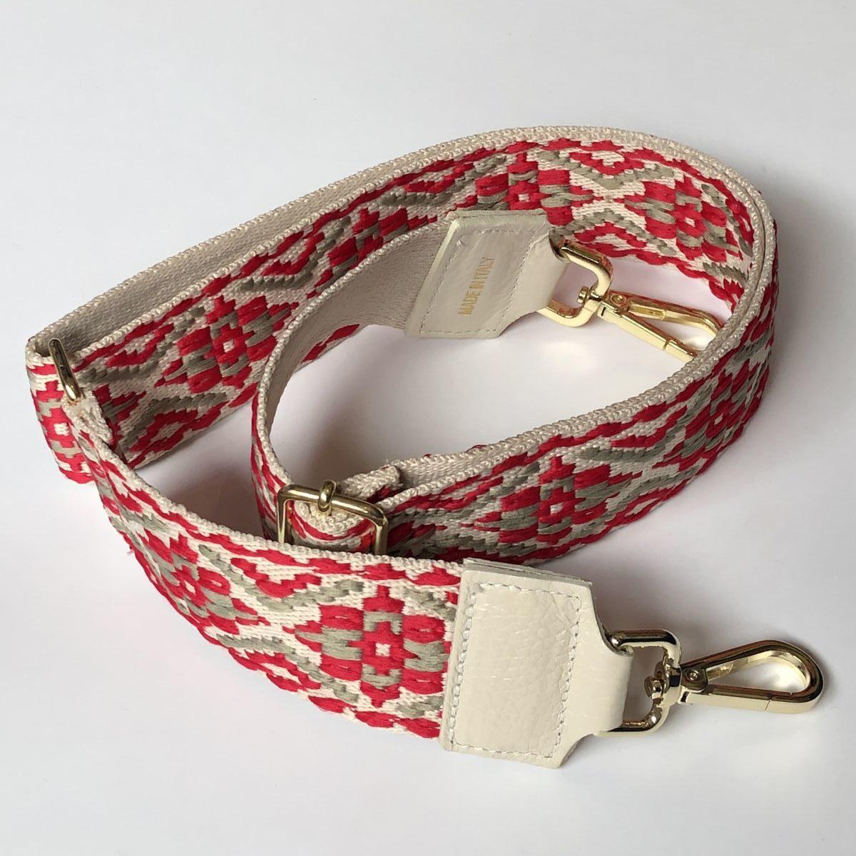 bandoulière amovible interchangeable sac rouge by destele