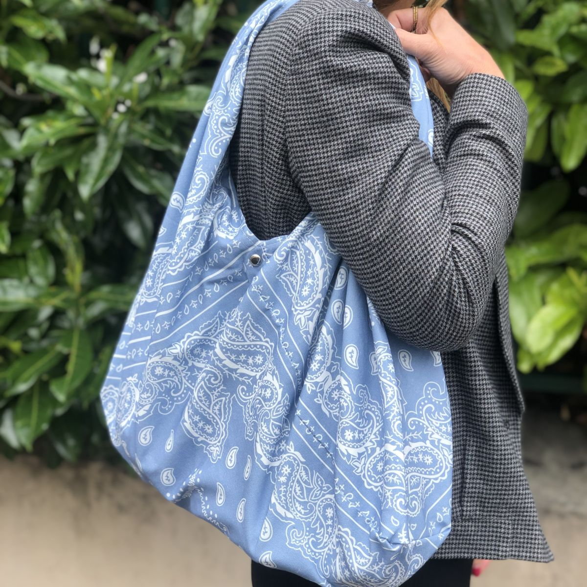 sac cabas bandana bleu by destele
