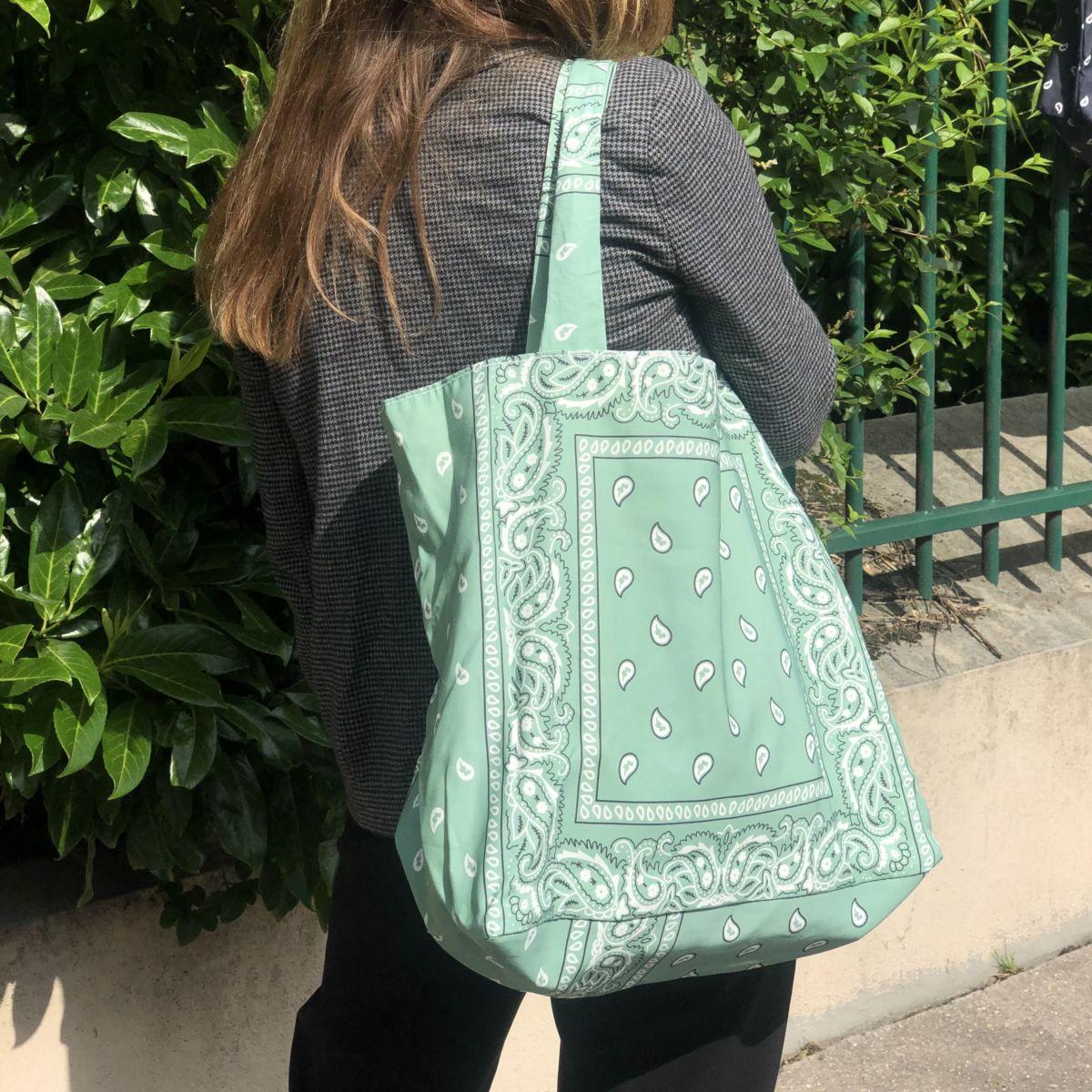 sac cabas xl gran modèle vert by destele