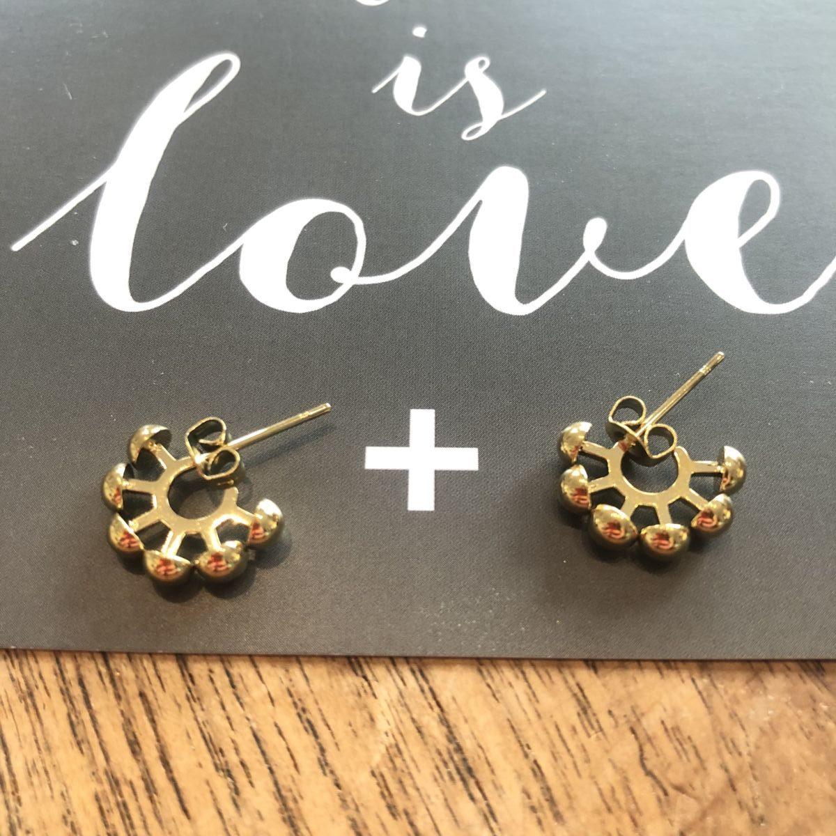 boucles d'oreilles mini créoles dorées acier inoxydable by destele