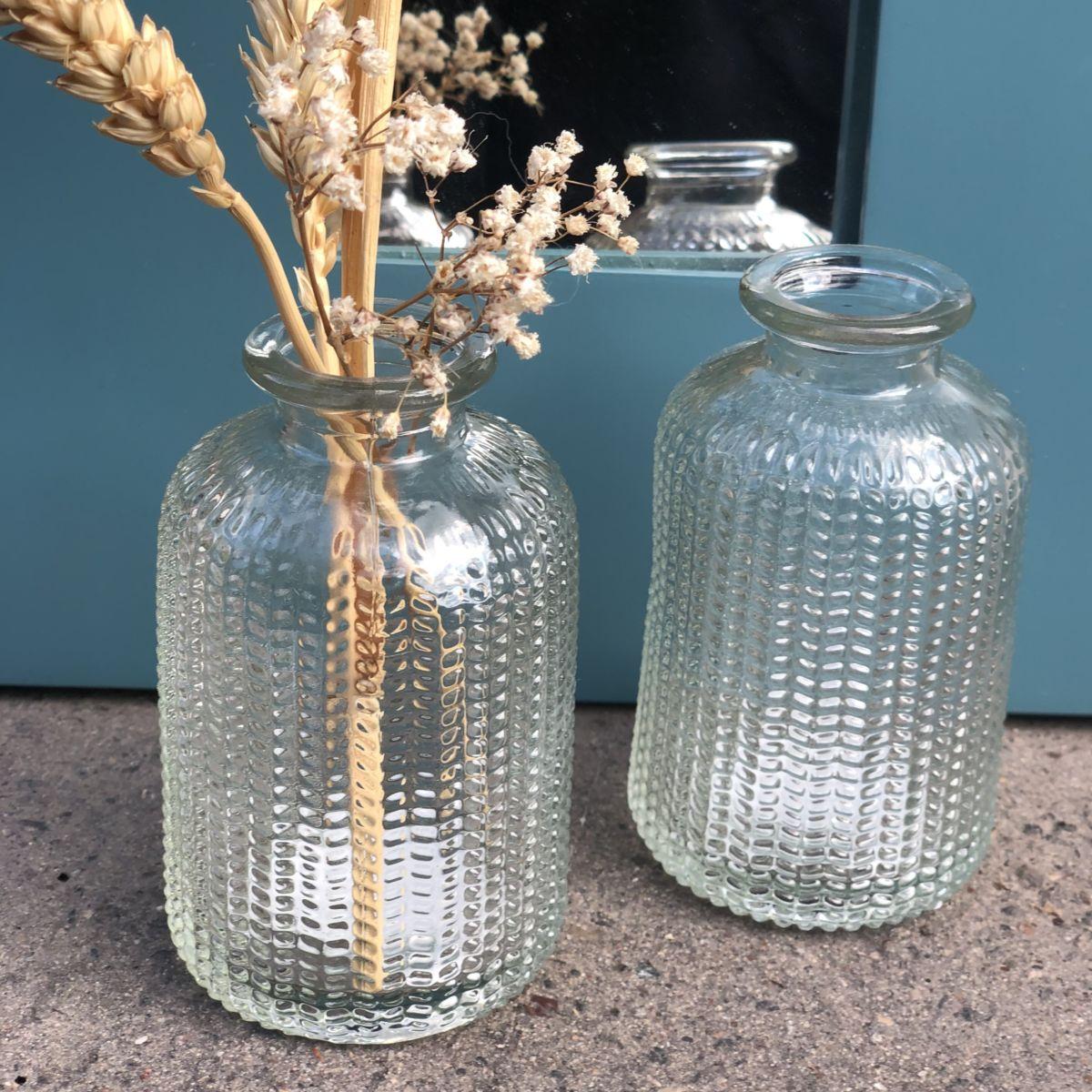 petit vase soliflore en verre transparent by destele