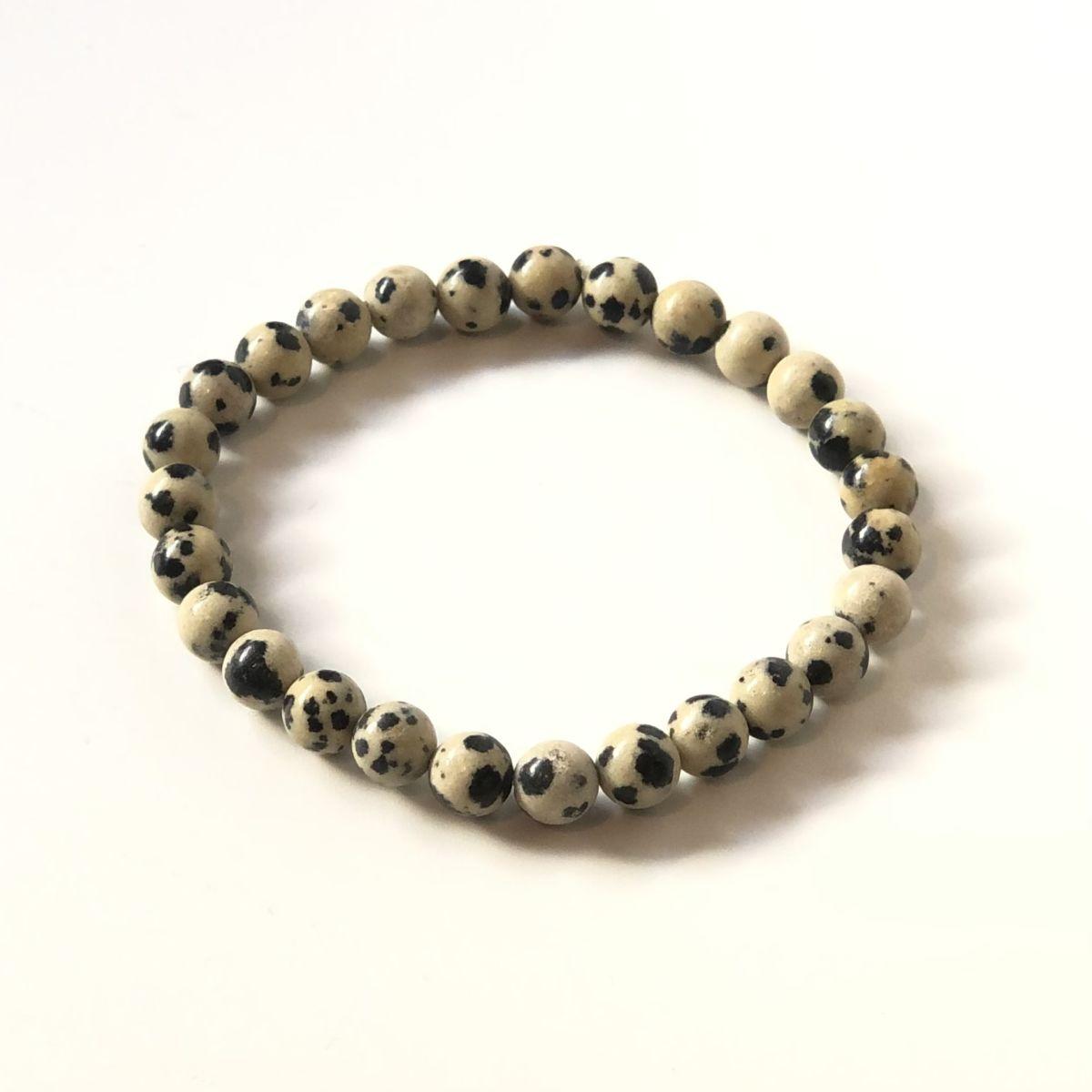 By Destele bracelet élastique unisexe en pierre naturelle